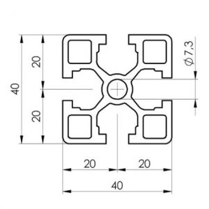 Aluminium profile extrusion dimensions