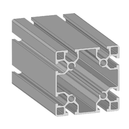 Alusic Aluminium T slot extruded profile 80 x 80