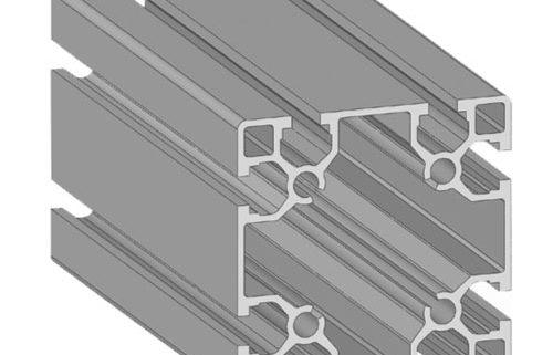 Alusic Aluminium T slot extruded profile 80 x 80
