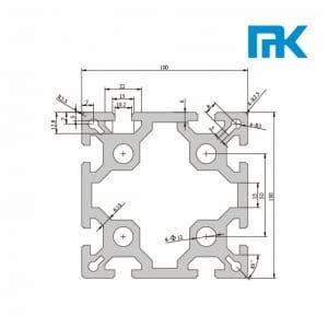 100100-2 - aluminium extrusion