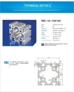 100100-3 - aluminium extrusion