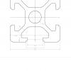 Dimension detaails of 20 series T Slot aluminium extrusion