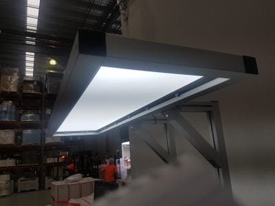 T slot aluminium extrusion overhead lighting frame