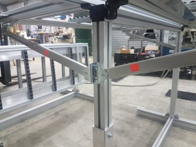 Aluminium T slot work bench