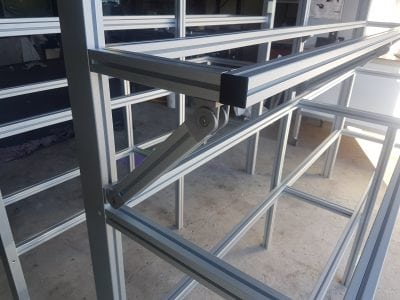 T slot aluminium work bench