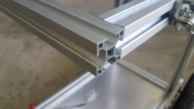 Aluminium T Slot extrusion joint