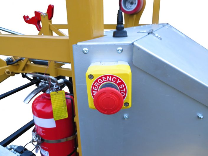 3 ton cable trailer emergency stop