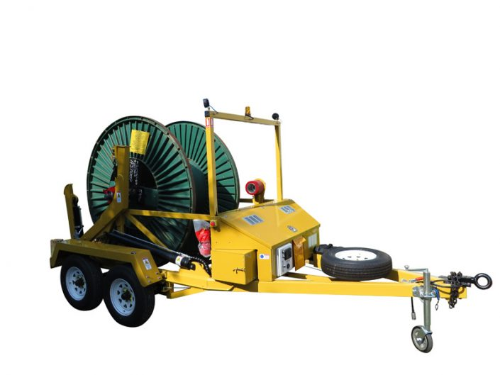 Remote controlled 3 ton cable trailer