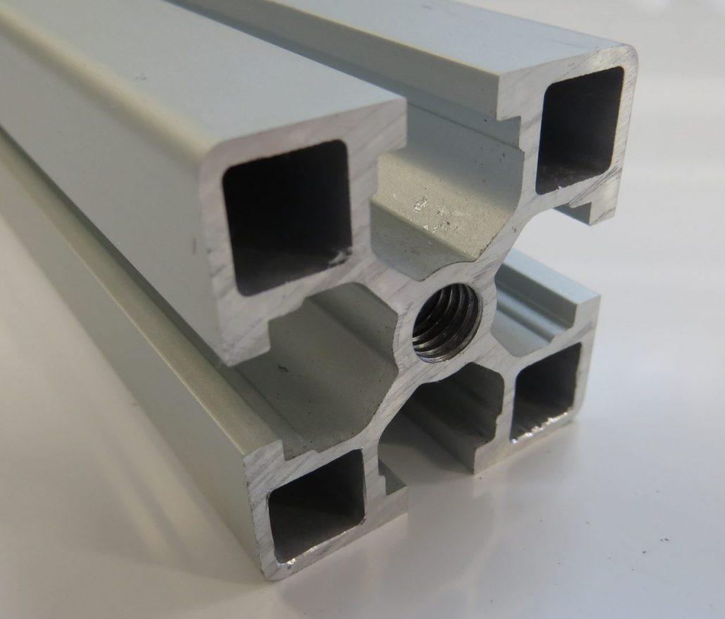 40 x 40 T slot Aluminium profile. - aluminium extrusion