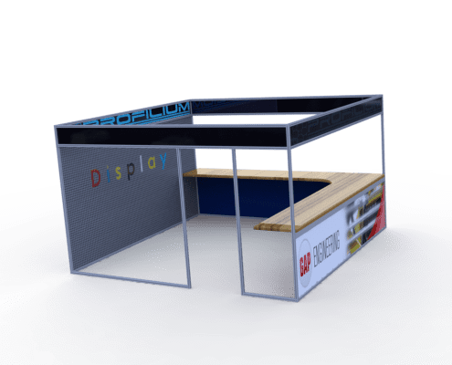 Large Display Booth Side View