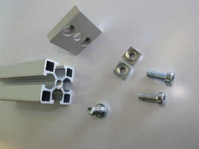 Extruded T slot aluminium profiles and accessories