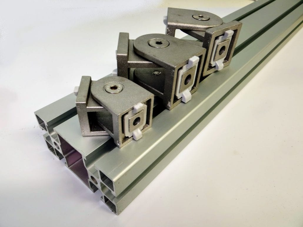 Articulated joint Alusic T Slot Aluminium Profile