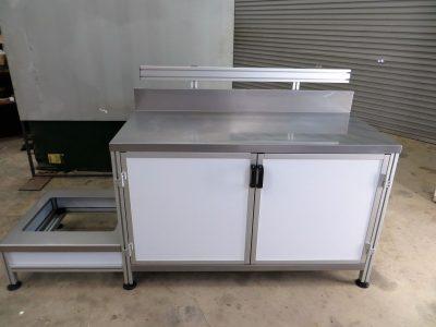 Aluminium T slot extrusion workstation