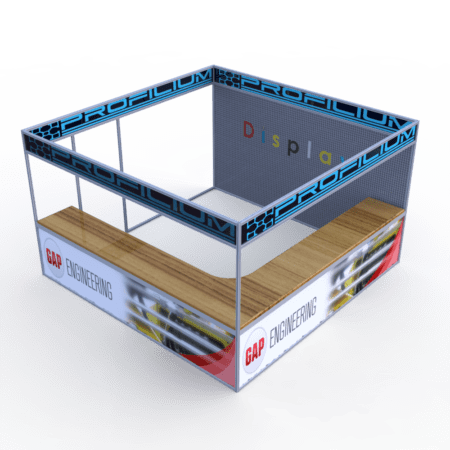 Large Display Booth Isometric angle