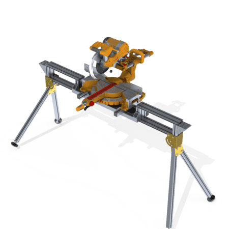 Portable Saw Bench with Saw attached