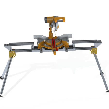 Front view Portable Saw Bench with Saw