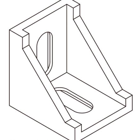 Aluminium corner brackets