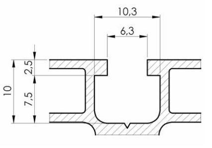 6 mm Slot Aluminium profile specifications