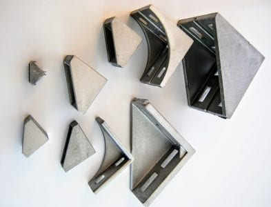Clamping angle connectors