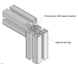 Standard Aluminium T slot extrusion join