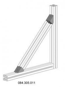 joint angle for 40 x 40 profile