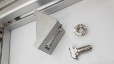 T Slot drop in stud connector