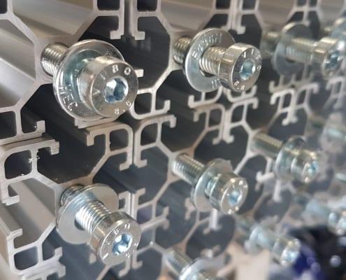 T Slot Aluminium Extruded Profiles and accessories