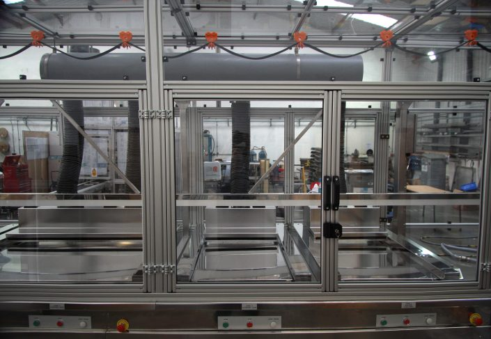 T slot extrusion machine guards