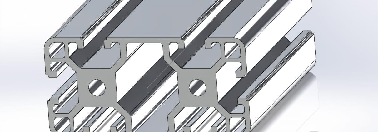 40x80 Extruded Aluminium Profile