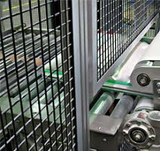 Safety fencing and conveyor belt
